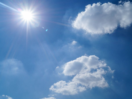 Image of the sky on a sunny day with clouds