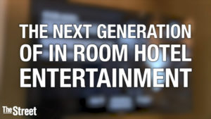 Image from the Street's Interview with Vanessa Ogle. It says the The Next Generation of In Room Hotel Entertainment