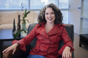 Image of Vanessa Ogle in her office