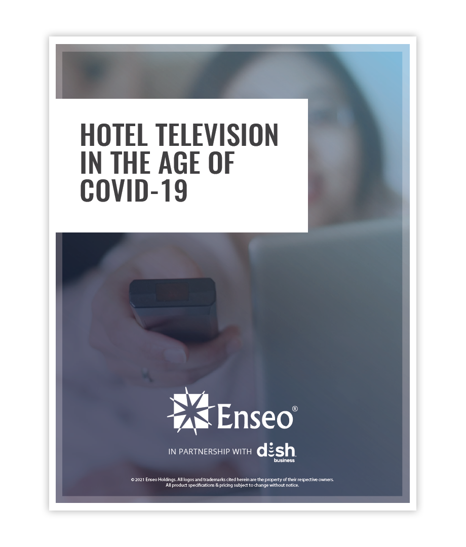 TV in the Age of COVID cover page which includes the title of the whitepaper and an image of a person flipping a TV channel with a remote